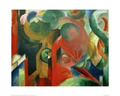 Small Composition III-Franz Marc-Giclee Print