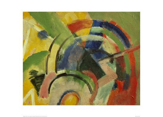 Small composition IV-Franz Marc-Giclee Print