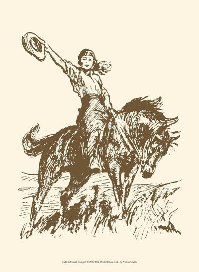 Small Cowgirl--Art Print