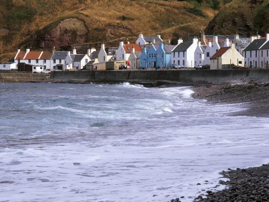Small Fishing Village of Pennan, North Coast, Aberdeenshire, Scotland, UK-Patrick Dieudonne-Photographic Print