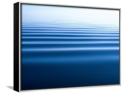 Small Gentle Ripples Move Across the Calm Surface of the Arctic Ocean-Norbert Rosing-Framed Canvas Print