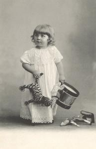 Small Girl with Toys