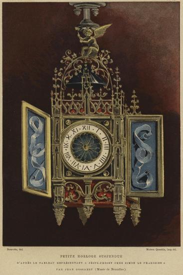 Small Hanging Clock--Giclee Print