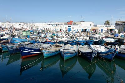 Small Inshore Fishing Boats in Tangier Fishing Harbour, Tangier, Morocco, North Africa, Africa-Mick Baines & Maren Reichelt-Photographic Print