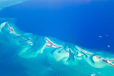 Small Islands in the Bahamas Islands/Turks and Caicos Chain in the Caribbean Sea-Mike Theiss-Photographic Print