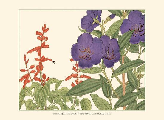 Small Japanese Flower Garden VI-Konan Tanigami-Art Print