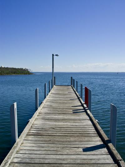 Small Jetty in a Sheltered and Secluded Bay on a Summers Morning-Jason Edwards-Photographic Print