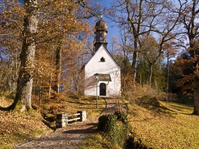 Small Kapelle (Chapel) at Schloss Linderhof (Linderhof Palace), Near Ettal-Glenn Van Der Knijff-Photographic Print