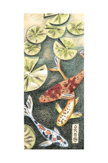 Small Koi Pond II-Chariklia Zarris-Art Print