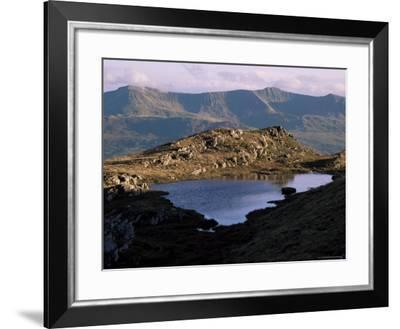 Small Lake with Cadair Idris Range Behind, Snowdonia National Park, Gwynedd, UK-Duncan Maxwell-Framed Photographic Print
