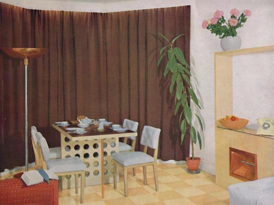 'Small Living-Dining Room', 1938-Unknown-Photographic Print