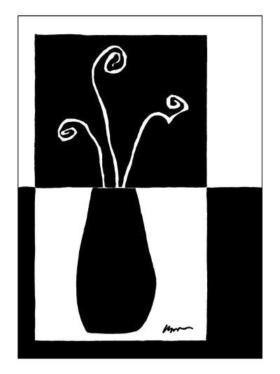 Small Minimalist Flower II-Jennifer Goldberger-Art Print