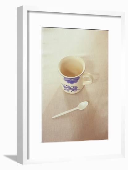 Small Mug and Plastic Spoon-Den Reader-Framed Premium Photographic Print