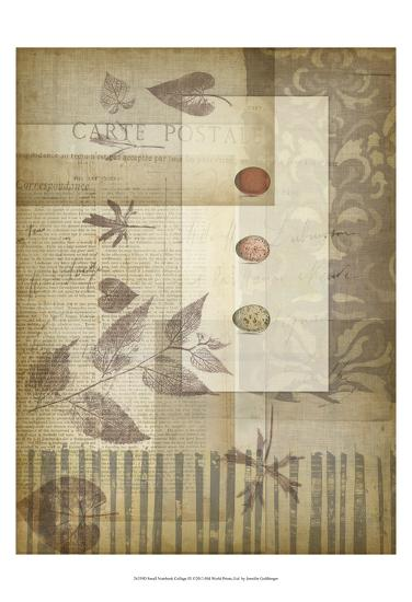 Small Notebook Collage III-Jennifer Goldberger-Art Print