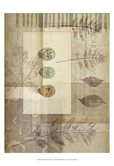 Small Notebook Collage IV-Jennifer Goldberger-Art Print