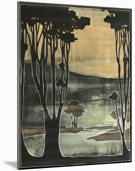 Small Nouveau Trees II-Jennifer Goldberger-Mounted Art Print
