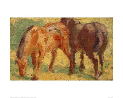 Small Painting of Horses-Franz Marc-Giclee Print