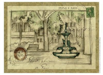 Small Postcard from the Villa I-Jennifer Goldberger-Art Print