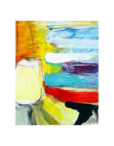 Small Pot by the Painted Sea-Joan Davis-Art Print