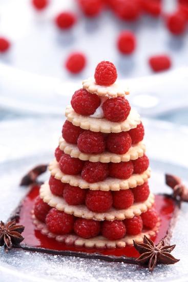 Small Raspberry Cake with Star Anise-Joerg Lehmann-Photographic Print