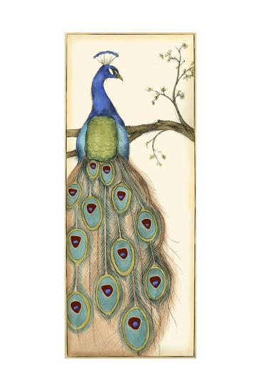 Small Rebecca's Peacock I-Jennifer Goldberger-Art Print