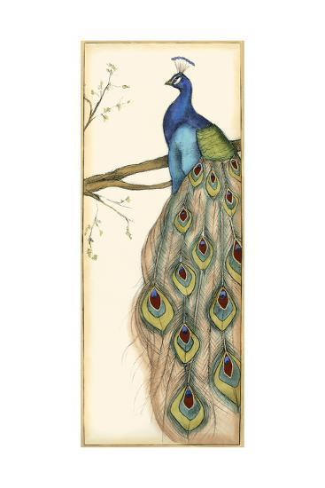 Small Rebecca's Peacock II-Jennifer Goldberger-Art Print