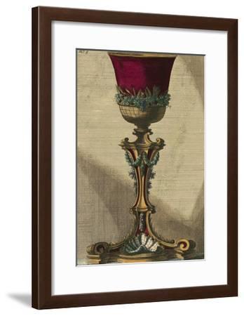 Small Red Goblet III--Framed Art Print
