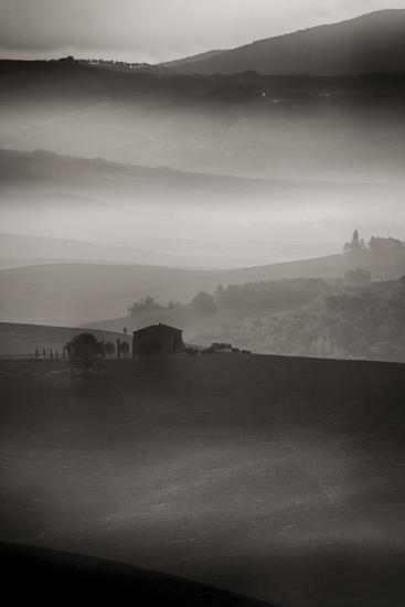 Small Rock Shed in the Vineyards in the Rolling Hills of Tuscany-Terry Eggers-Photographic Print