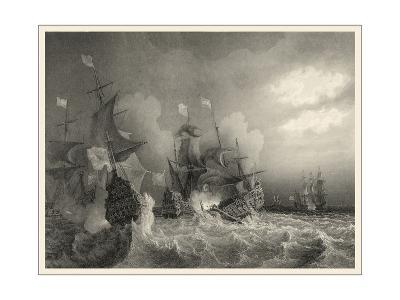 Small Ships at Sea I--Art Print