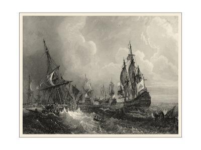 Small Ships at Sea II--Art Print