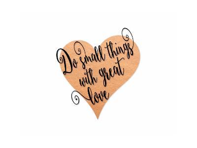 Small Things Great Love Pink-Tara Moss-Art Print