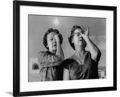 Small Town Folks, Amused Women, at Exhibit of Paintings of Lady Artists of the Town-Grey Villet-Framed Photographic Print