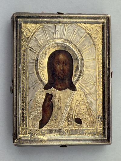 Small Travel Icon Depicting Blessing Christ--Giclee Print