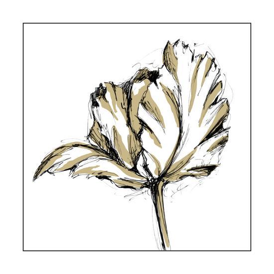 Small Tulip Sketch III-Ethan Harper-Art Print