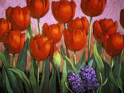 Small Tulips and Hyacinths-John Newcomb-Giclee Print