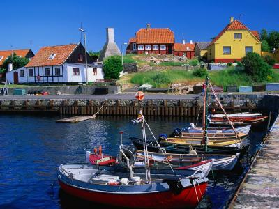 Small Village Harbour, Gudhjem, Bornholm, Denmark-Anders Blomqvist-Photographic Print