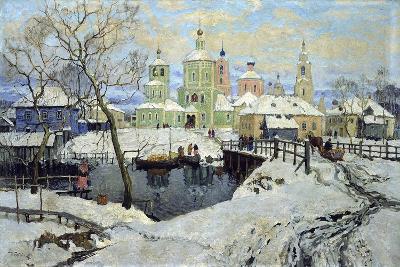 Small Village Torzhok, 1917-Konstantin Ivanovich Gorbatov-Giclee Print
