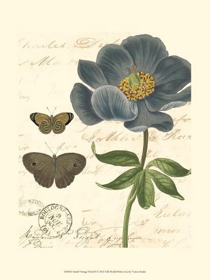 Small Vintage Floral I--Art Print