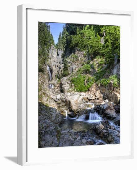 Small Waterfall, Mount Rainier National Park, Washington, USA-Tom Norring-Framed Photographic Print