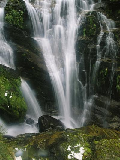 Small Waterfall Near the Milford Track on New Zealands South Island-Mark Cosslett-Photographic Print