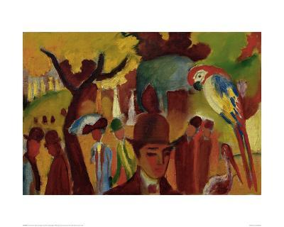 Small Zoological Garden-Franz Marc-Giclee Print