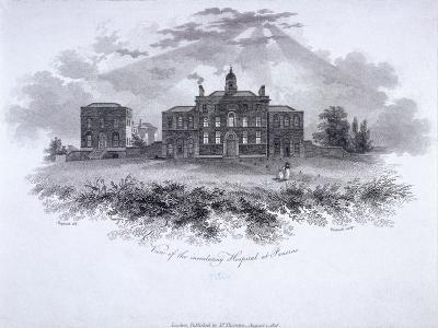 Smallpox Hospital, Battle Bridge (Now King's Cros), London, 1806-William Woolnoth-Giclee Print