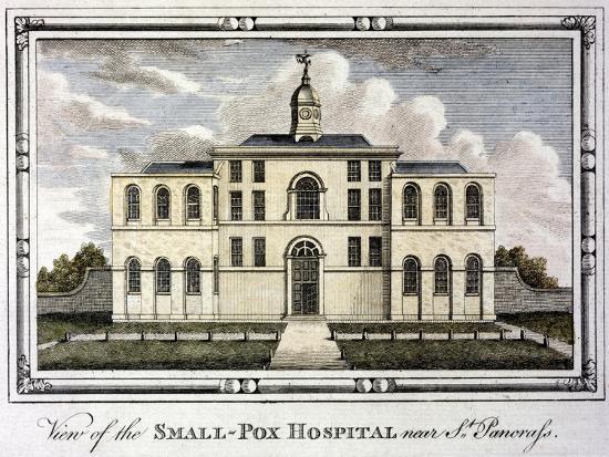 Smallpox Hospital, St Pancras, London, C1800--Giclee Print