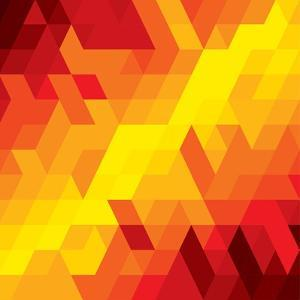 Abstract Colorful Of Diamond, Cube And Square Shapes by smarnad