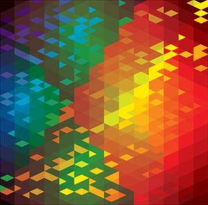 Abstract Colorful Of Geometric Shapes by smarnad
