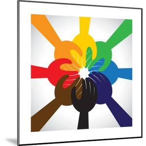 Group of Hands Taking Pledge, Promise or Vow - Concept Vector Icon by smarnad