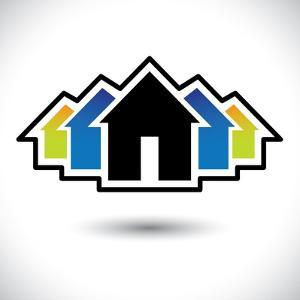 House (Home) And Residence Sign For Real Estate by smarnad