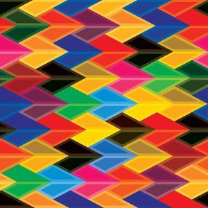 Seamless Abstract Colorful Of Arrows And Dart Shapes by smarnad