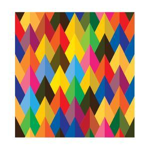 Seamless Abstract Colorful Of Cones Or Triangle Shapes by smarnad