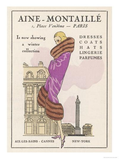 Smart Winter Coat by Aine- Montaille of the Place Vendome--Giclee Print